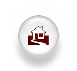 A home on a round pearl icon